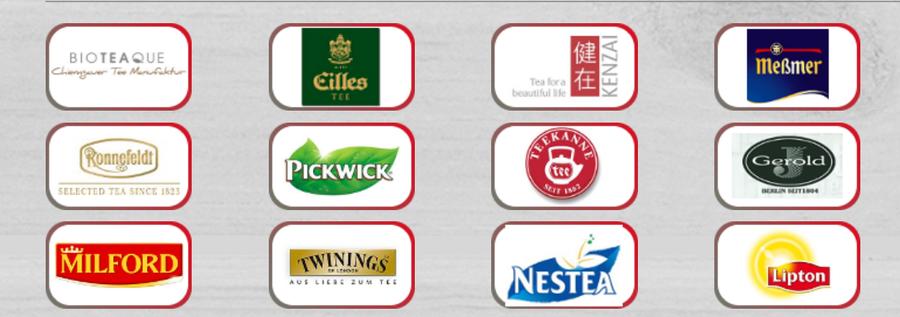 Teelieferanten, Teemarken und Teeproduzenten