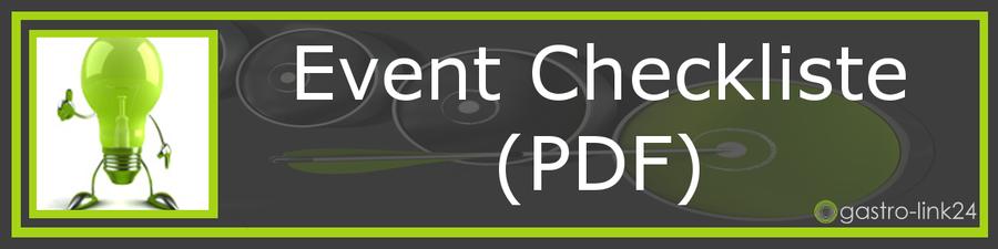 Checkliste Eventplanung