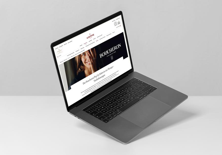 Boucheron x WEMPE Landing Page Pop-Up Salon