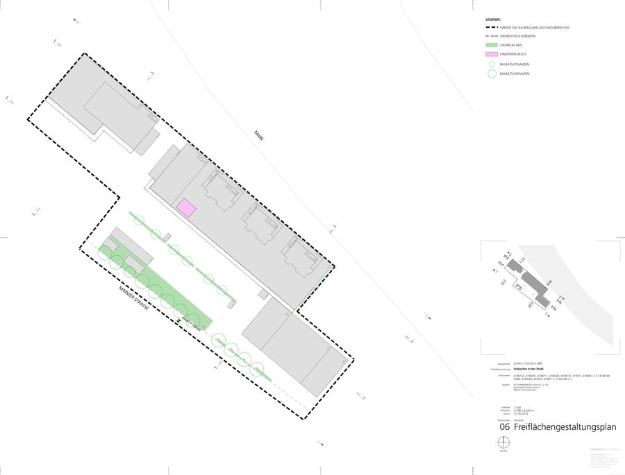 Einkaufen in der Stadt - Planung alter Bahnhof in Miltenberg - Grünflächen?