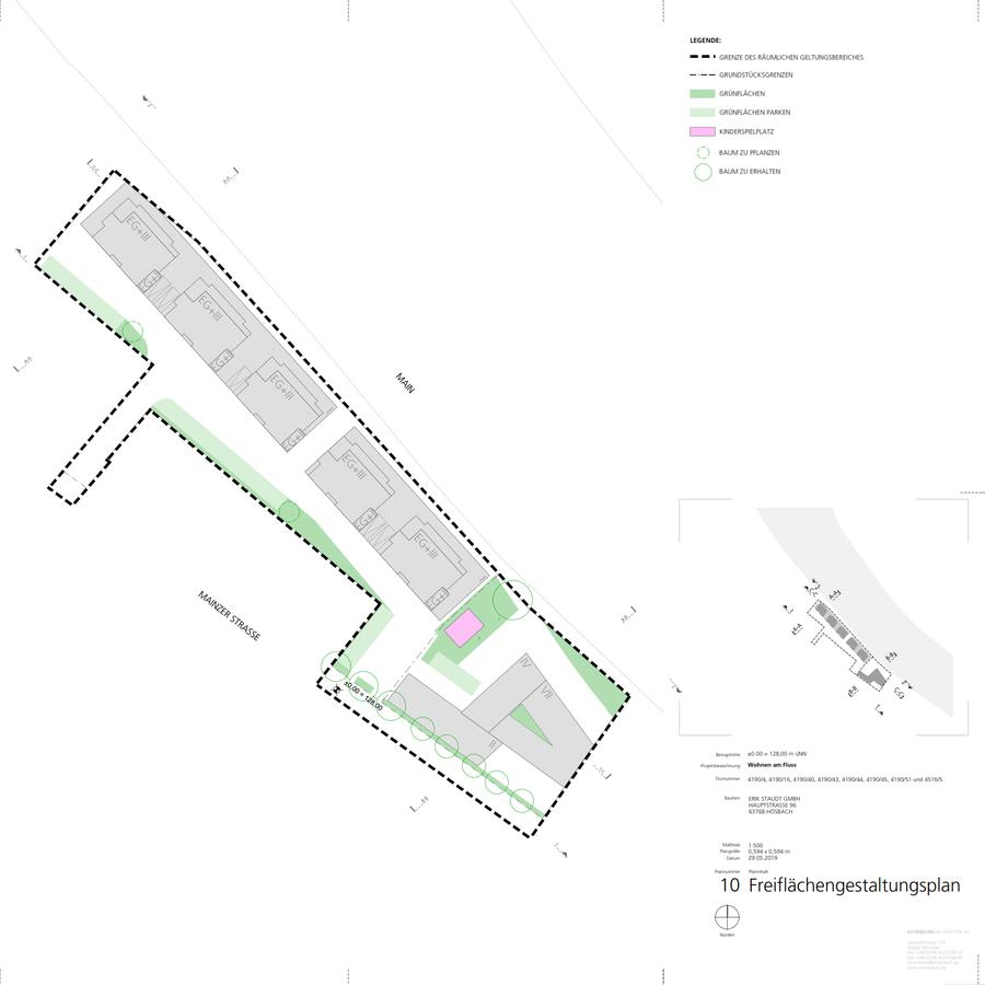 Wohnen am Fluss - Planung alter Bahnhof Miltenberg - Grünflächen?
