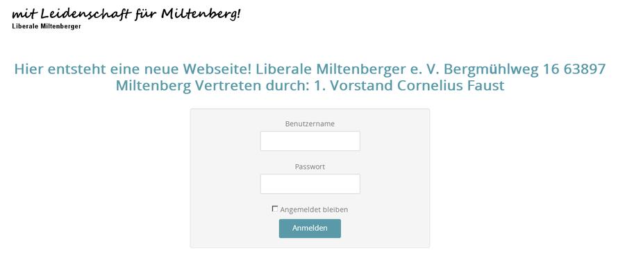 Bürgerinformation der liberalen Miltenberger