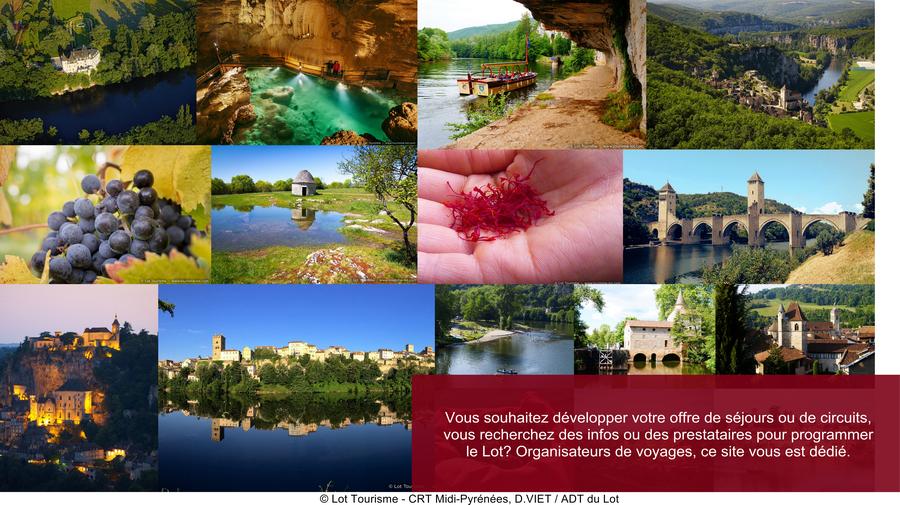 Grands sites du Lot: Cahors - Saint-Cirq Lapopie - Figeac - Rocamadour - La Vallée de la Dordogne - Le Gouffre de Padirac