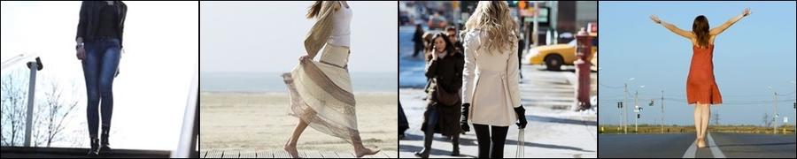 キレイに歩く女性