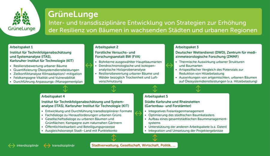 GrüneLunge Projektübersicht Arbeitspakete