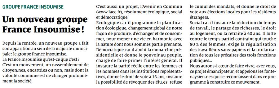 A Fontenay, n°151, octobre 2017