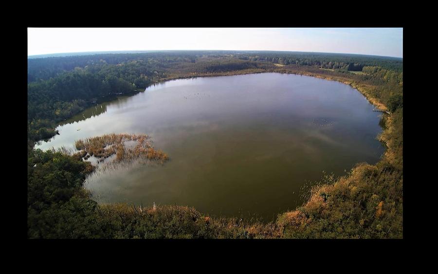 Lubowsee aus der Luft von der rechten Seite
