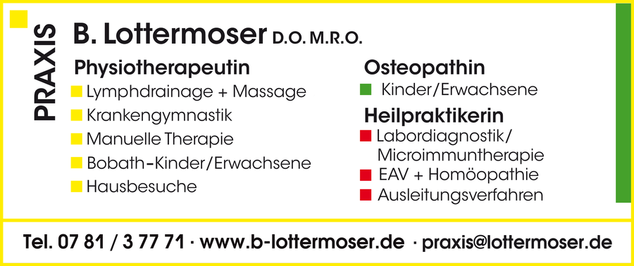 Physiotherapeutin, Osteopathin, Heilpraktikerin