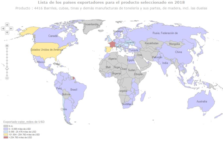 Datos del 2018, fuente https://www.trademap.org/Country_SelProduct_TS_Map.aspx?nvpm=3%7c%7c%7c%7c%7c4416%7c%7c%7c4%7c1%7c1%7c2%7c2%7c1%7c2%7c1%7c1