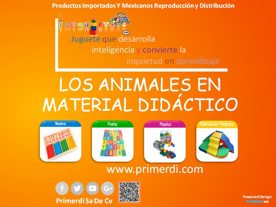 Los animales en material didactico de madera foamy plastico estimulacion temprana
