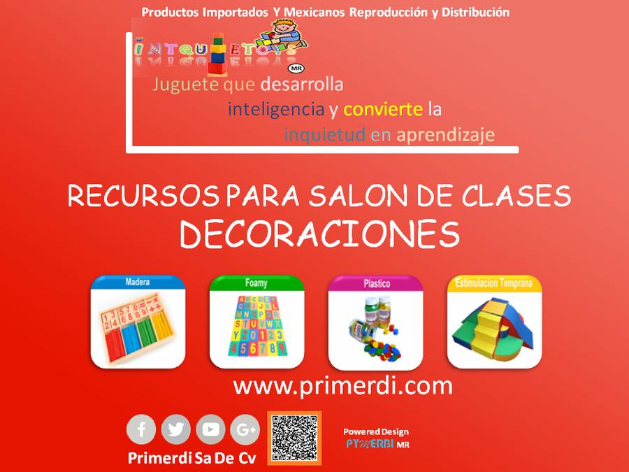 DECORACIONES O RECURSOS PARA EL SALON DE CLASES