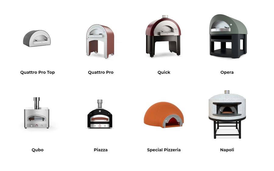 Pizzaofen für privat und Gewerbe von Alfa Forni - Opera Quick Napoli - Piazza Qubo