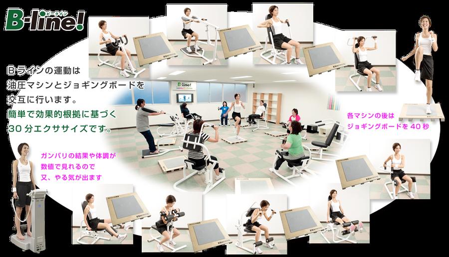 ビーライン水戸南町店,サーキットトレーニング,フィットネスクラブ,水戸市,マシン,ジョギング,30分エクササイズ