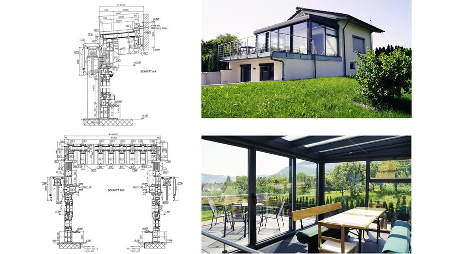 Terrasenüberdachung - Planung Fertigung Ausführung