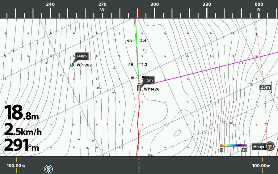 Bootspeilung und Elektromotorausrichtung auf einen Blick mit iPILOT LINK