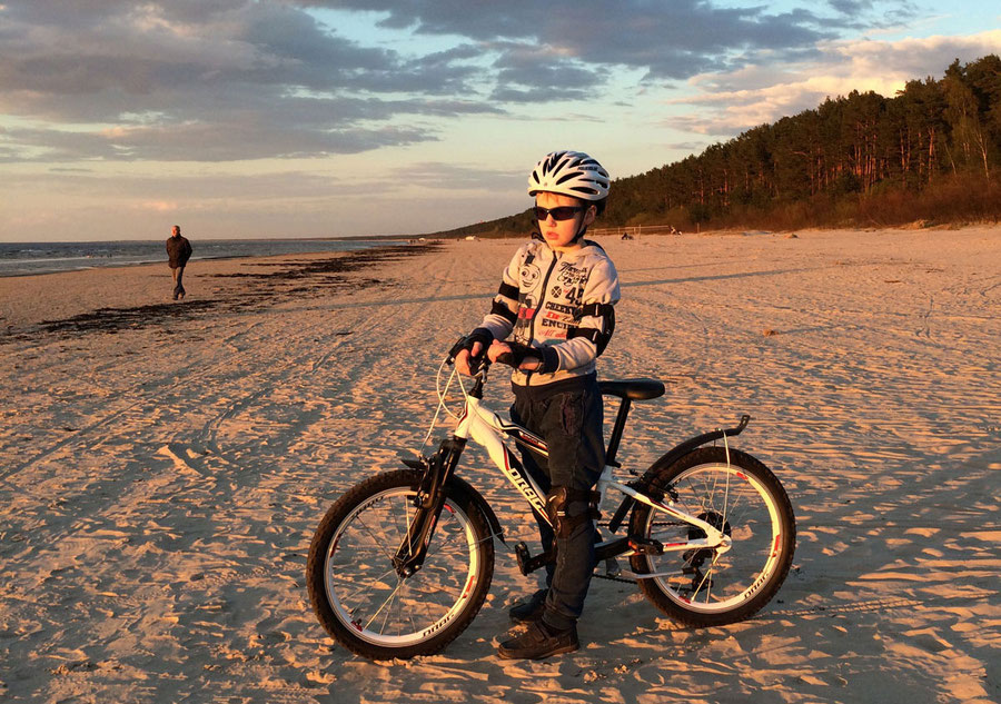Visit Latvia, biking Baltic sea, sandy beaches and pristine nature