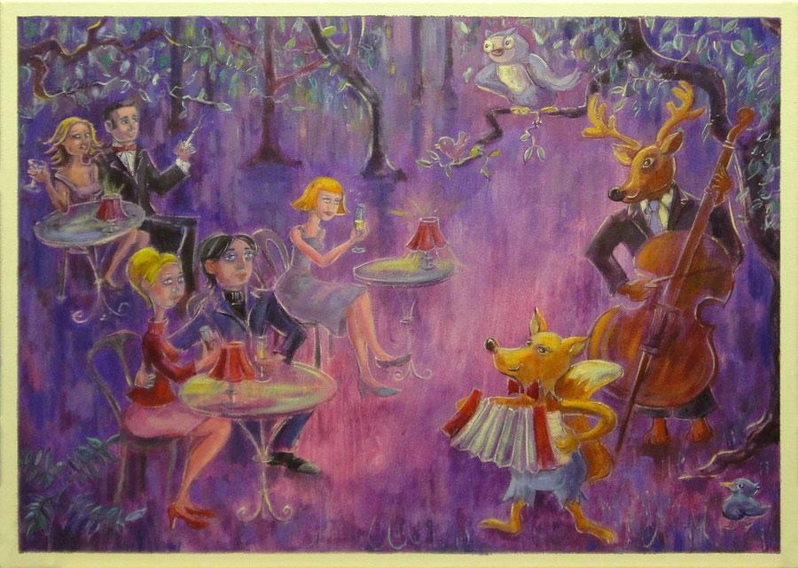 De geluiden van het woud, 70-50cm, oil on canvas