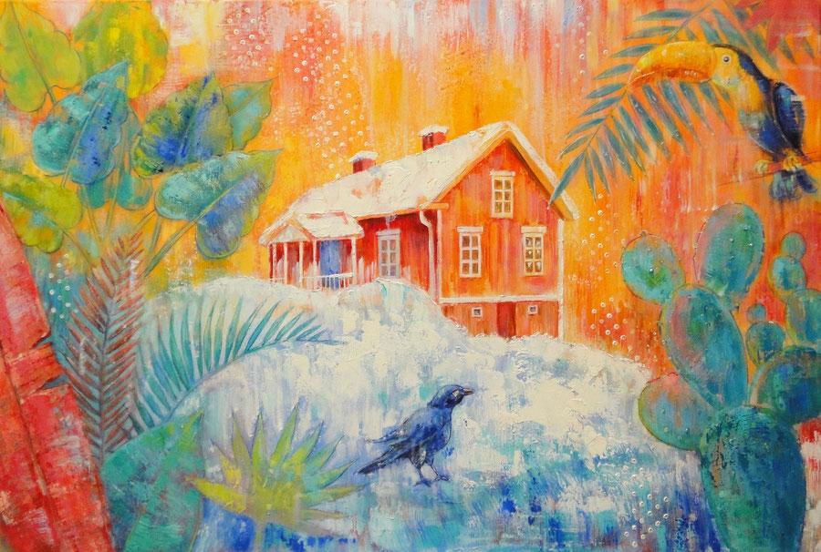 De laatste sneeuw, 120 x 80 cm, oil on cancas