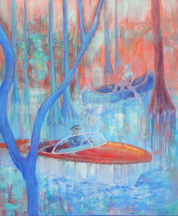 The blue catfish, 100 x 120, oil on canvas