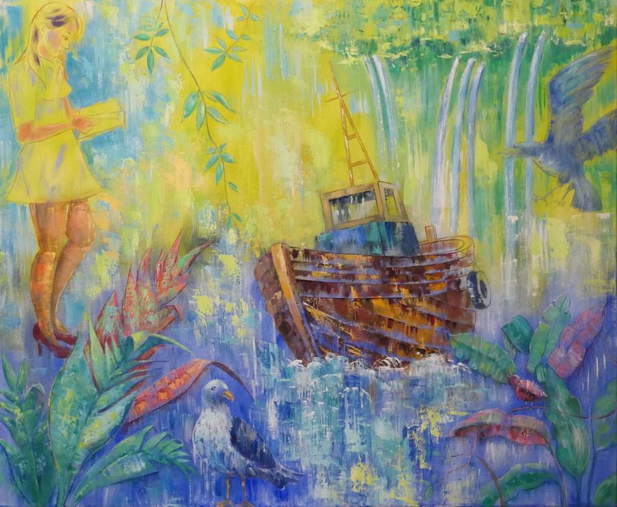 Ghostship, 120 x 100cm, oil on canvas
