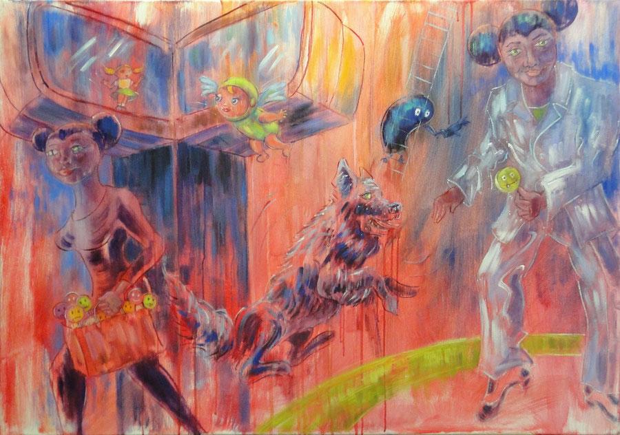 10 seconds of seduction, 100 x 70 cm, oil on canvas