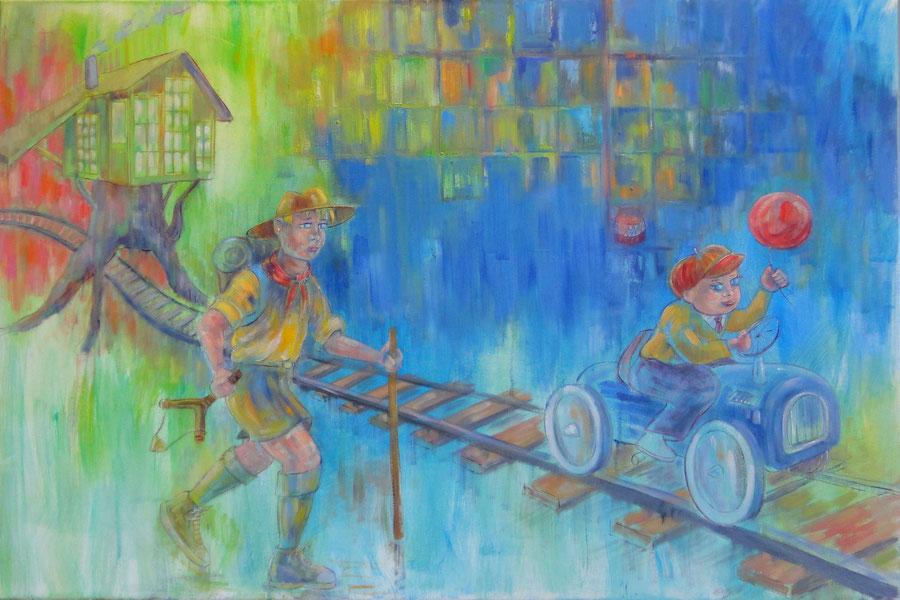 Innocence, 120-80 cm, oil on canvas