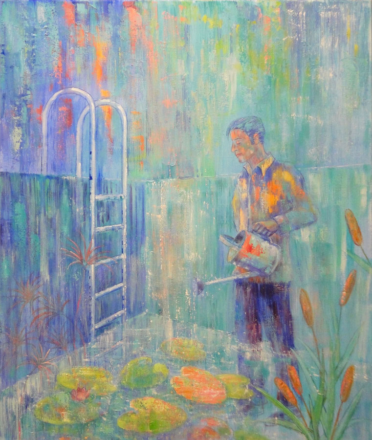 Waterman 2, 100 x 120 cm, oil on canvas