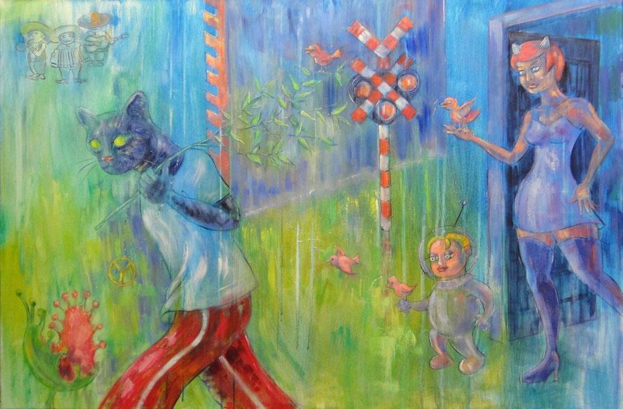 In de tussentijd, 120 x 80 cm, oil on canvas