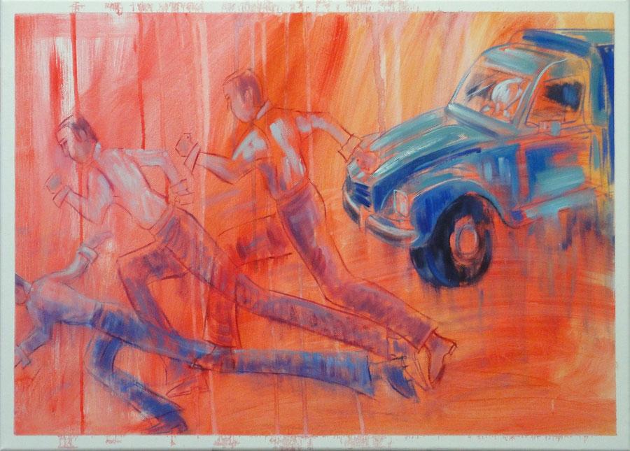 Doom or Boom,70 x 50 cm, oil on canvas
