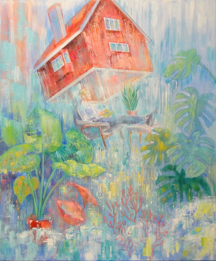 The green house, 100 x 120 cm, oil on canvas