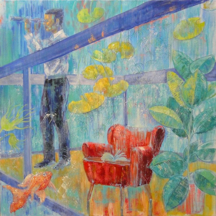 Waterman 1, 100 x 100 cm, oil on canvas