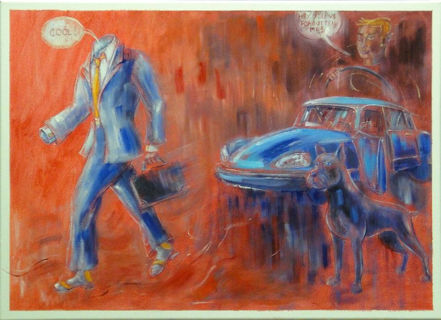 Achterlaten, 50-70 cm, oil on canvas