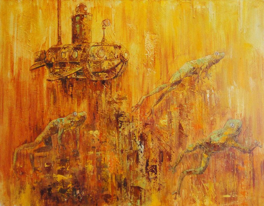 Submarine, 90 x 70 cm, oil on canvas