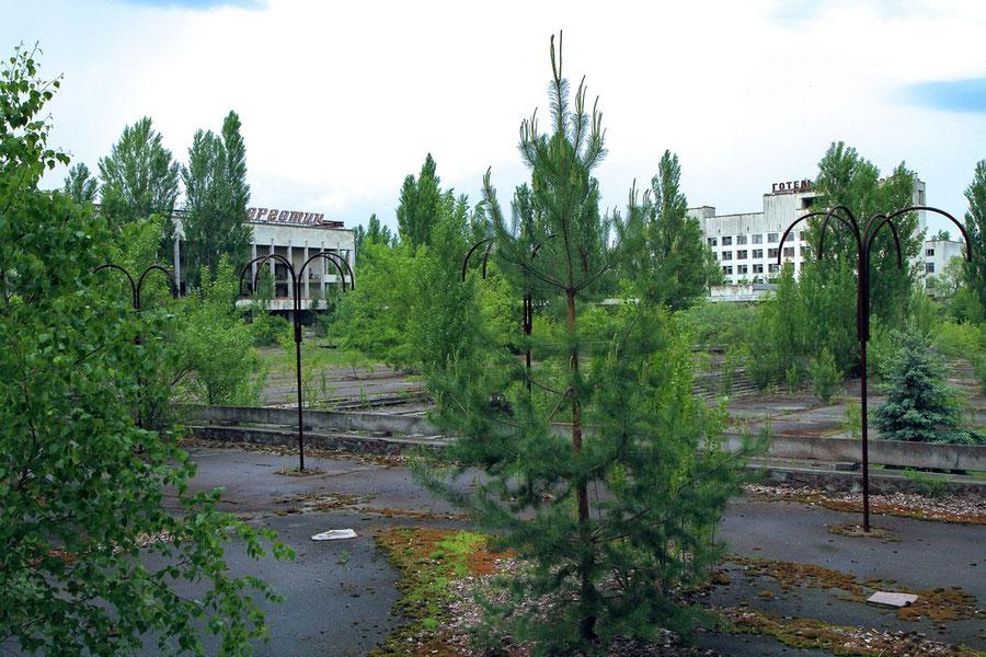 Zentraler Platz der Stadt