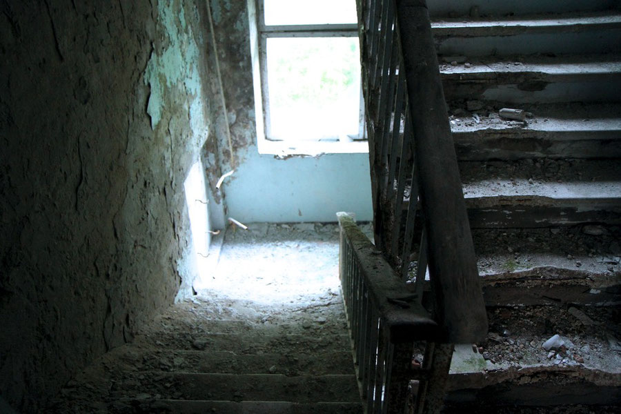 Treppenhaus im Klinikum