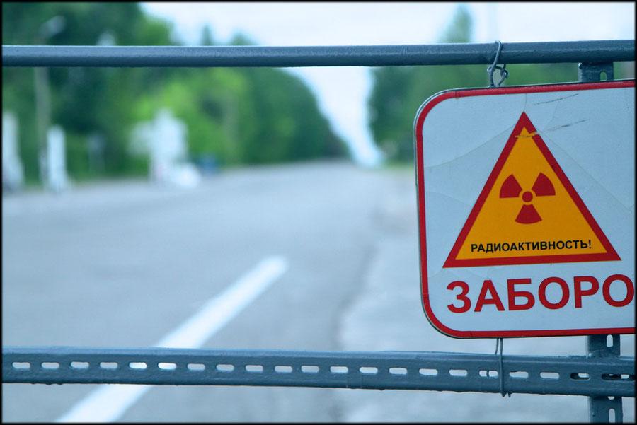 Checkpoint an der 30km-Sperrrzone
