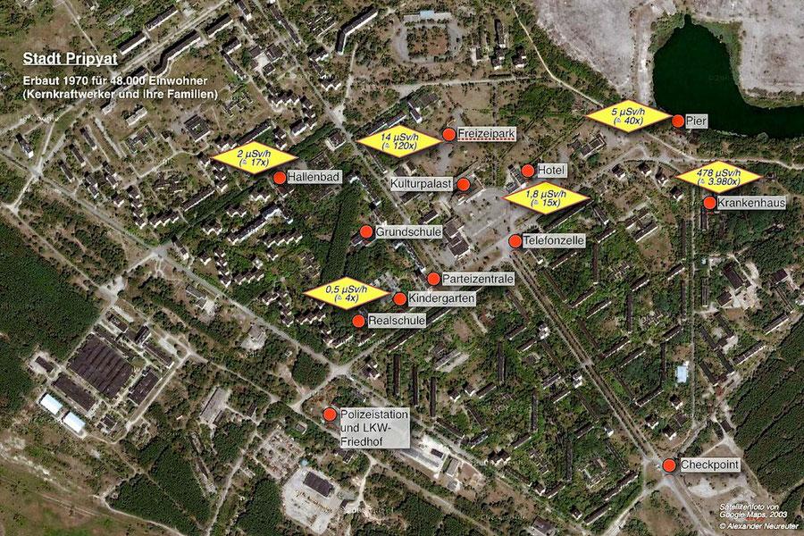 Karte von Pripyat