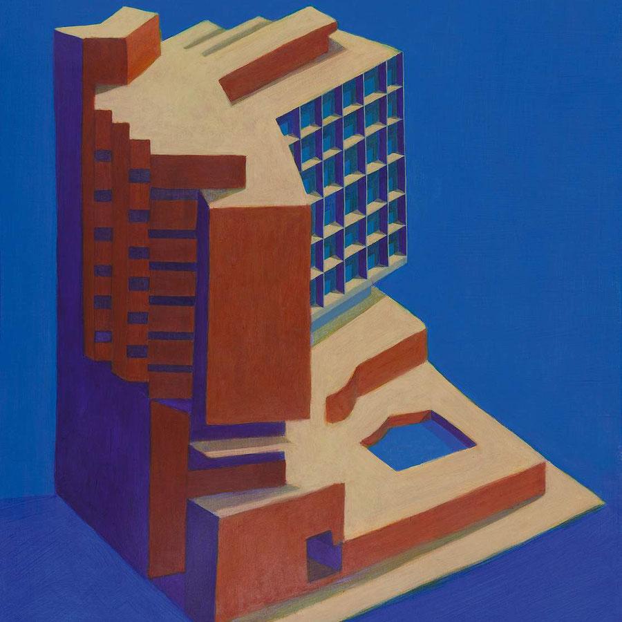 Gran Hotel,  100x70cm, acrílico sobre papel.