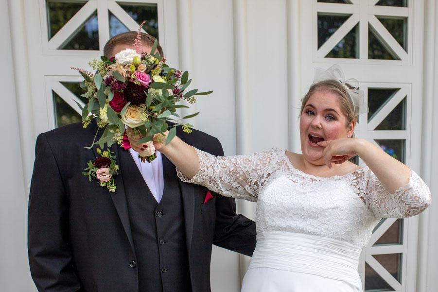 Lustiges Hochzeitsbild