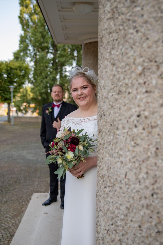 Die Braut im Vordergrund!