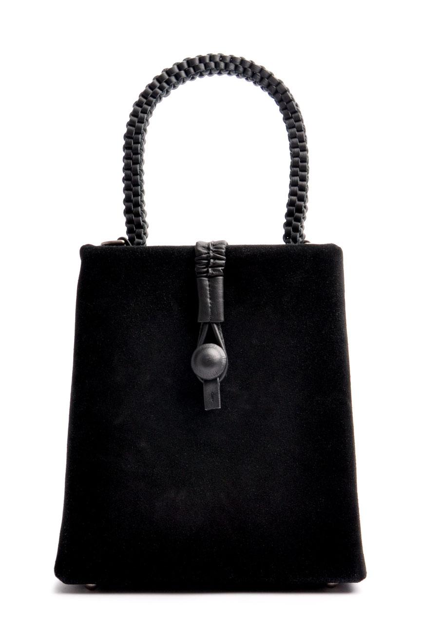 Henkeltasche Fleur Vintagelook  Leder schwarz OSTWALD Tradition