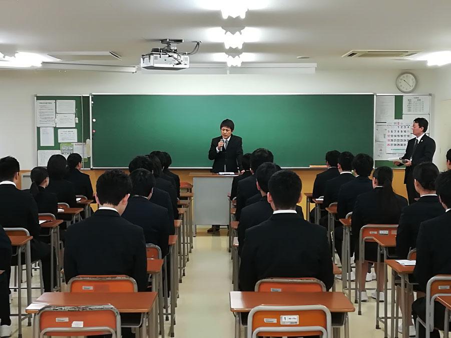 スタッフブログ 理学療法士募集のため、札幌の専門学校で就職セミナーに参加 写真② セミナー前のPRの様子