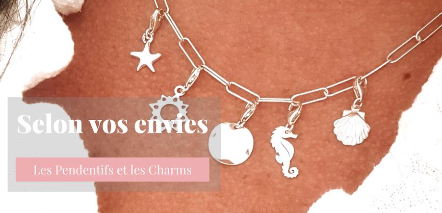 Collection selon vos envies, pendentifs et charms en argent