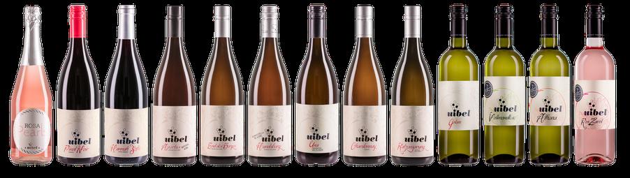 Weinauswahl Weinhof Uibel