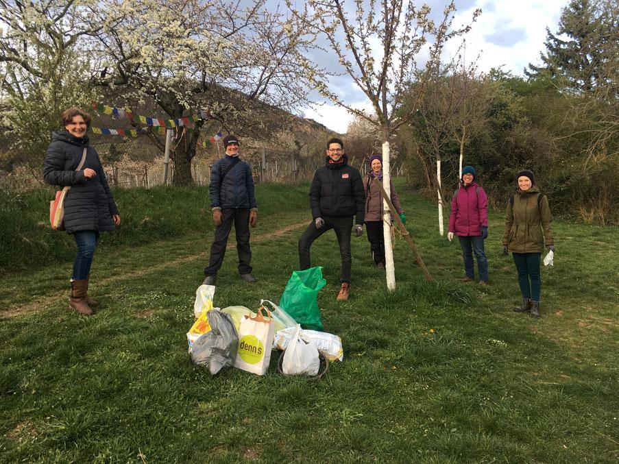 Cleanup – Gruppe Dossenheim (Myriam van Eecke)