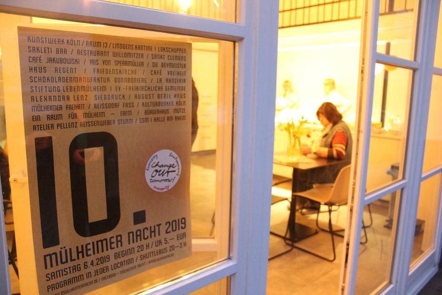 Blick ins August Bebel Haus Café während der 10. Mülheimer Nacht.