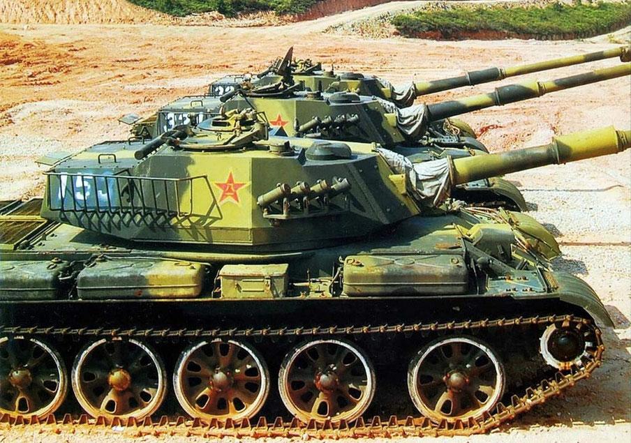 La tourelle soudée donne une autre allure au Type 62. Au passage un blindage plus perfectionné est appliqué