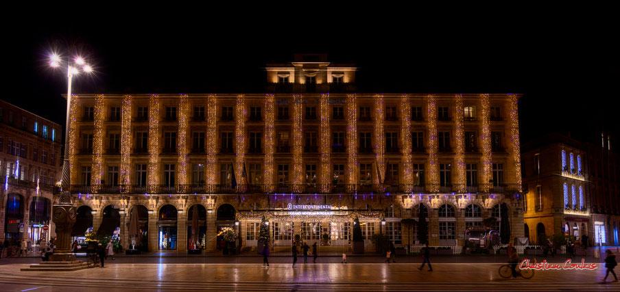 Bordeaux, place de la Comédie & Intercontinental Bordeaux le Grand Hôtel. Mercredi 16 décembre 2020. Photographie © Christian Coulais