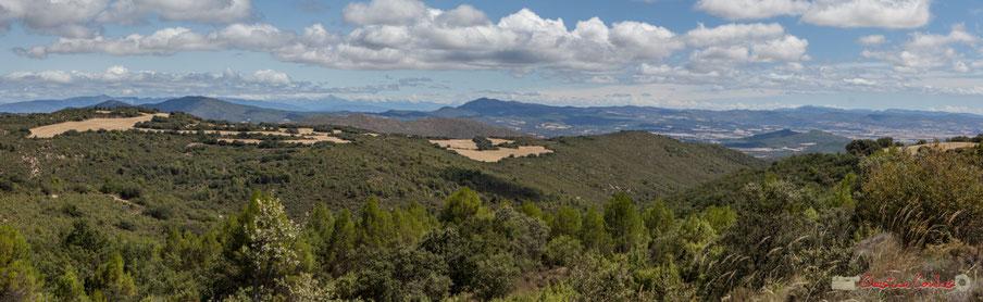Panoramique entre Murillo el Fruto et Ujué, route de la crête / Panorámica entre Murillo el Fruto y Ujué, el camino de montaña