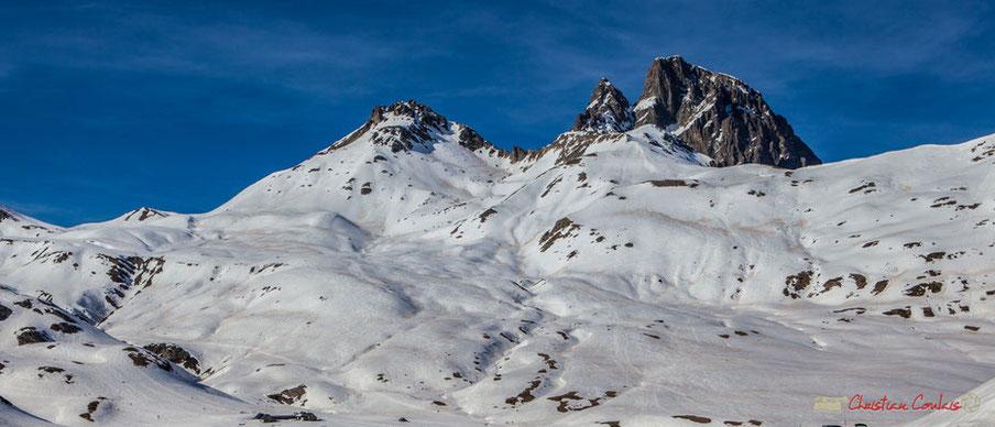 Cirque d'Anéou depuis la RD 134 bis, Col du Pourtalet, Vallée d'Ossau, Pyrénées-Atlantiques